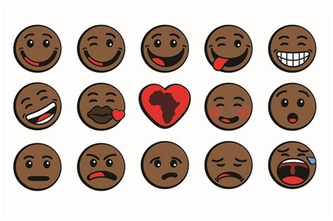 black emoji android emoji diversity update oju africa launches black emoticons atlanta blackstar