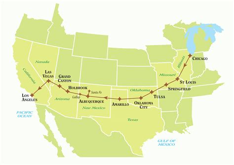 map of route 66 usa tailor made route 66 self drive tours just america