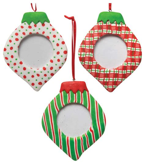picture frame ornaments ornament picture frame set of 3 contemporary