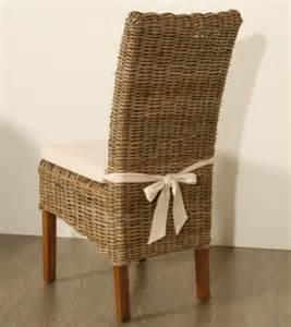lot de 4 chaises en kubu tress 233 avec galette