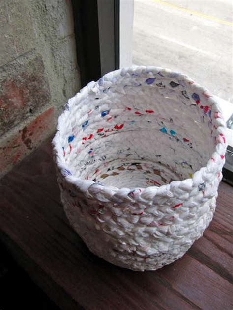 Recycled Handmade - recycle bags to design a basket recycled things