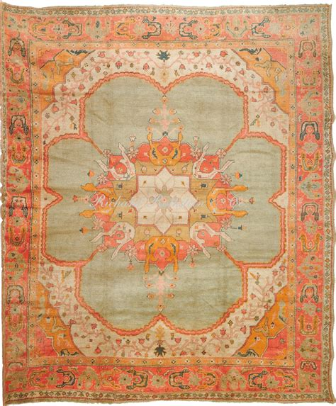 antique oushak rug antique oushak rug 13 7 x 16 7 antique turkish oushak rug