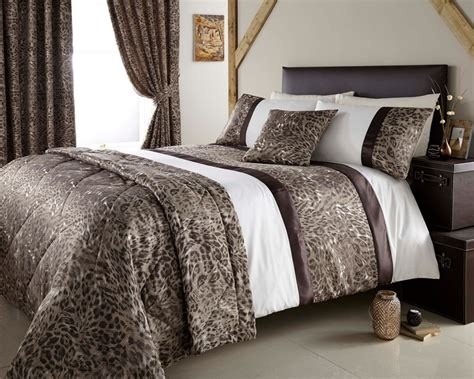 King Quilt Covers by Jacquard Leopard Design Duvet Quilt Cover Bed Set Throw