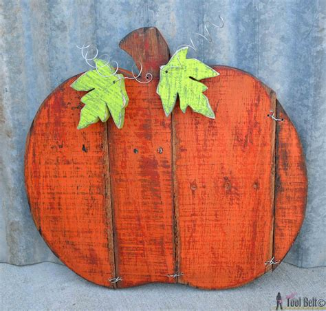 rustic pallet pumpkin  tool belt guest post
