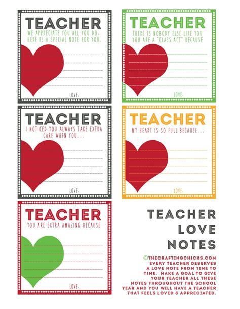 Thank You Letter For Teachers Day Notes Back To School Printables Note And School