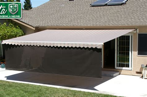 screen awnings retractable sunshade awnings