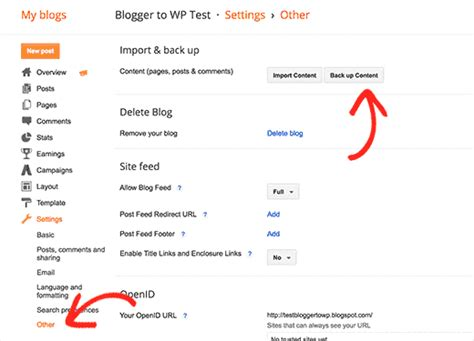 blogger xml export how to migrate from blogspot to wordpress