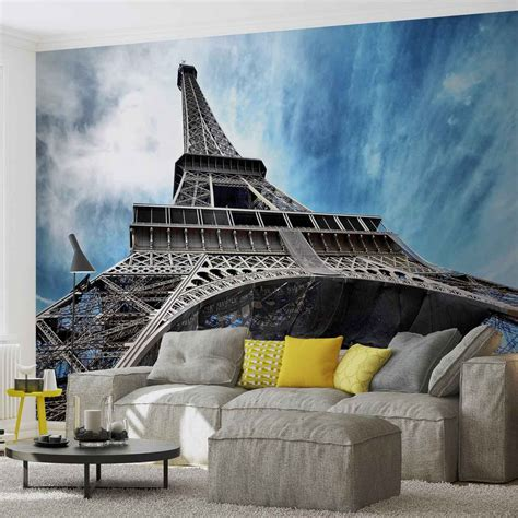 wall mural eiffel tower eiffel tower wall paper mural buy at europosters
