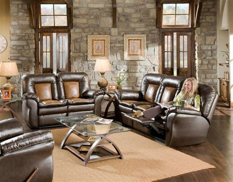 newman s furniture corinthian two tone reclining sofa