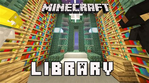 minecraft how to build a library youtube minecraft tutorial how to make a library design coral