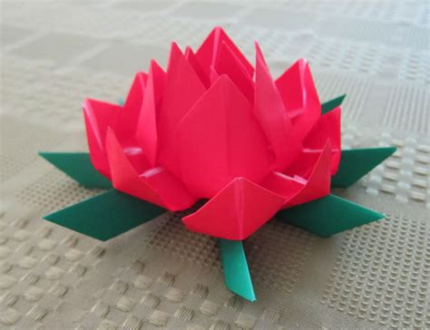 origami lotus blossom purple origami lotus flower