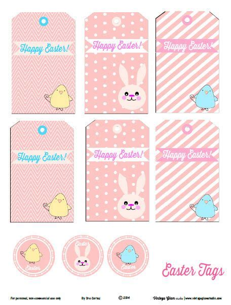 printable free easter tags easter tags free printable easter pinterest