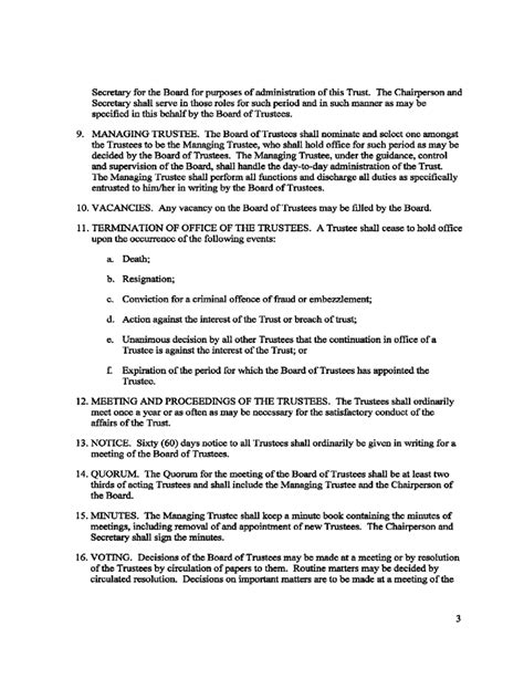 trustee resolution template resolution of trustees template board resolution template