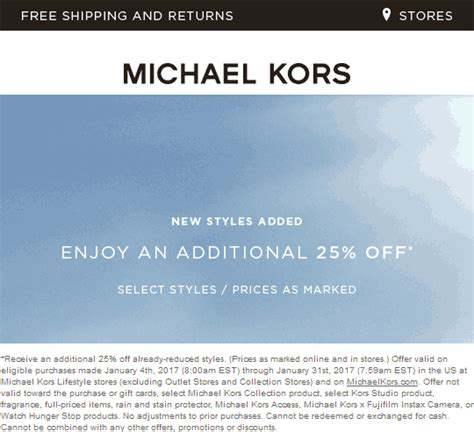 Michael Kors Printable Coupons