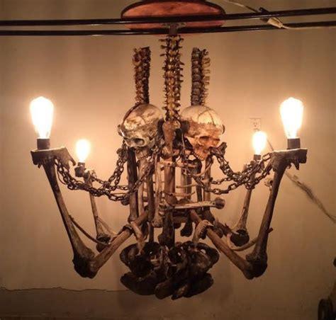 Skeleton Chandelier Interior Frighting Skeleton Chandelier Creepbay