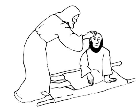 free coloring pages of jesus heals the paralytic