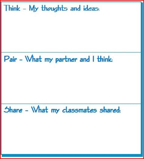 think pair template resources references think pair