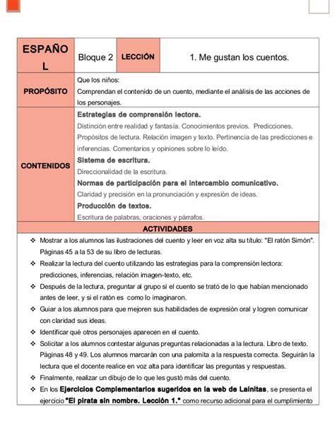Espaol Bloque 2 Respuestas | espaol bloque 2 respuestas 2do grado bloque iv espa 241