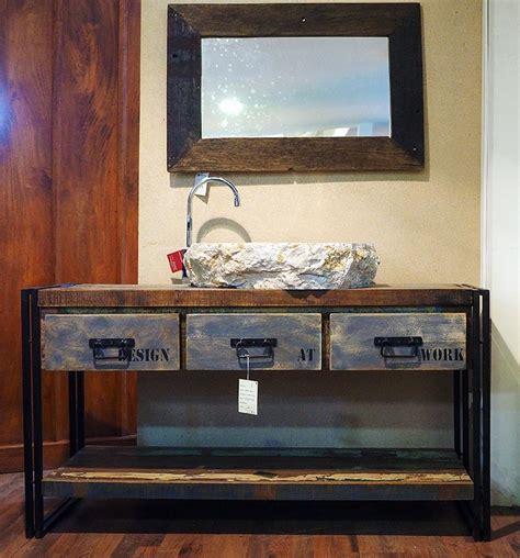 mobili bagno in stile mobile bagno stile industrial offerta prezzo on line legno