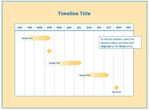 sample timeline templates   documents
