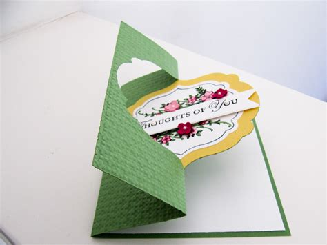 how to make flip card stin up apothecary post by demonstrator cox