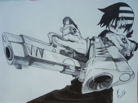 death the kid soul eater by adrawings1 on deviantart