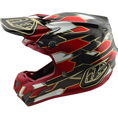 tld motocross helmets troy designs 2018 mx se4 carbon maze black tld