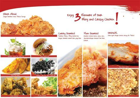 design menu makanan unik jasa design leaflet booklet menu makanan brosur