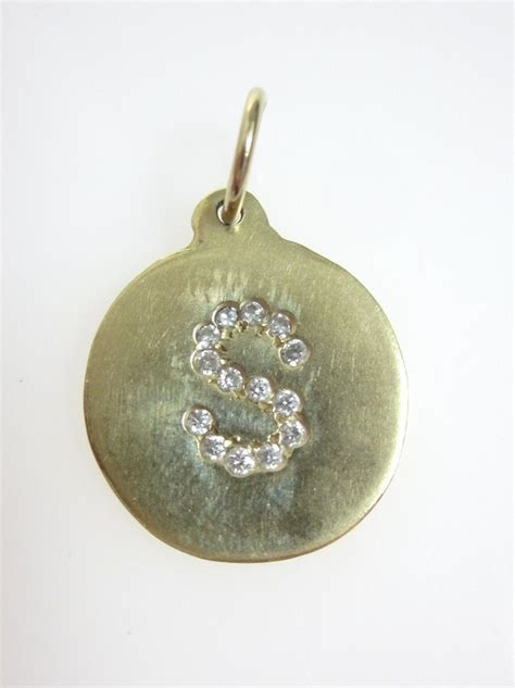 Helen Ficalora Exclusive Burts Bees Charm by Helen Ficalora 14kt Yellow Gold Letter S Initial