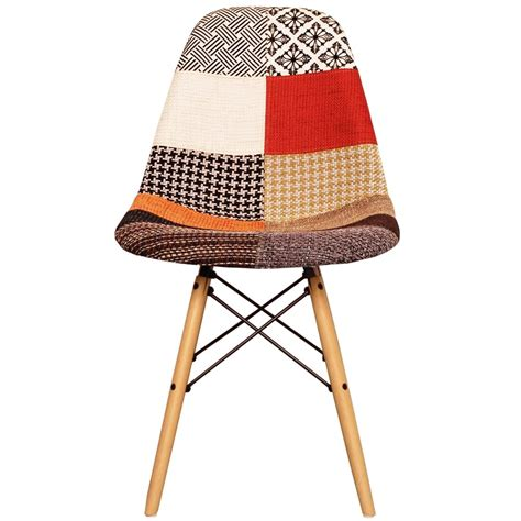 Patchwork Fabric Uk Only - patchwork fabric eiffel designer dining side chair from