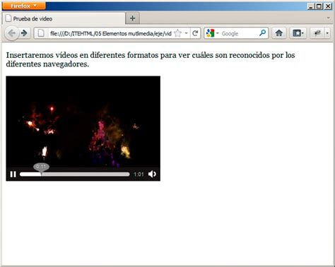 insertar imagenes jpg en html insertar un v 237 deo elementos multimedia