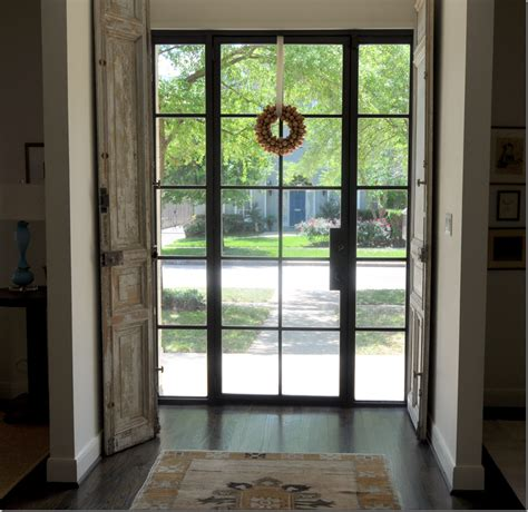Glass And Steel Doors Window Treatments Not Included Steel Windows And Doors Interior Josh