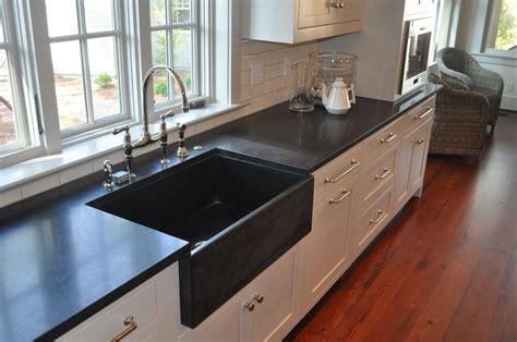 White And Brown Kitchen Cabinets Multistone Custom Countertops In Savannah Ga