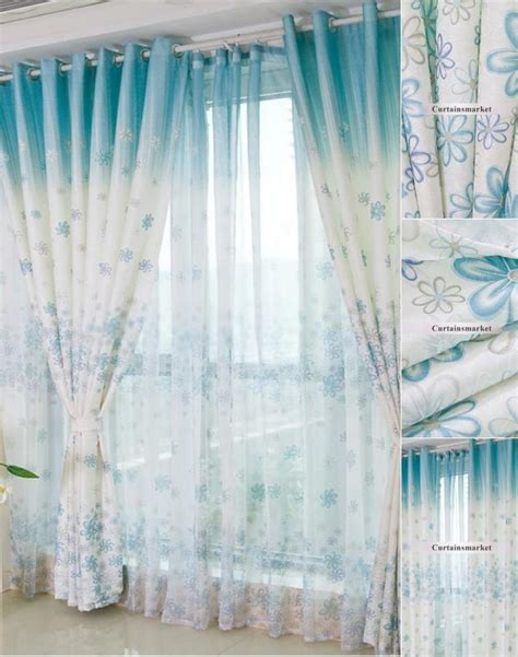 pretty drapes beautiful and pretty bedroom or living room blue floral