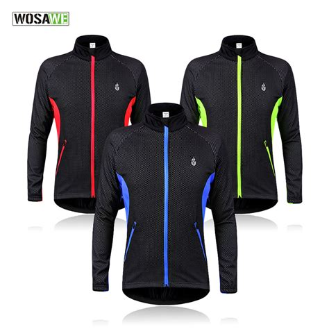 mtb winter jacket wosawe cycling jacket windproof waterproof bike bicycle