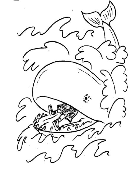 free printable jonah and the whale coloring pages for kids