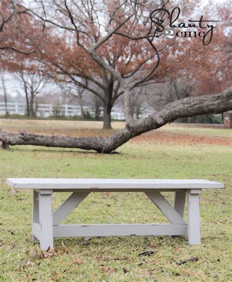 wood bench diy diy 15 outdoor bench shanty 2 chic