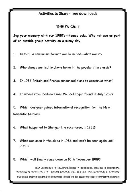 printable quiz for the elderly activities for elderly people with dementia and alzheimer