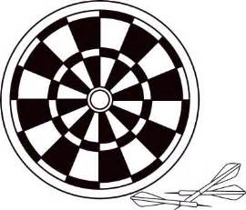 black and white dart clipart clipart suggest