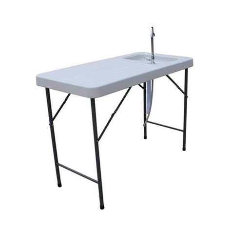 folding table with sink palm springs folding plastic table with sink tap the