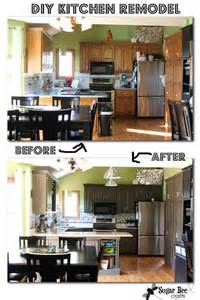 diy kitchen remodel oak cabinets to painted gray mosaic