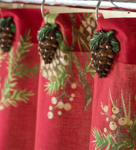 pine cone shower curtain pine cone shower curtain hooks bathroom