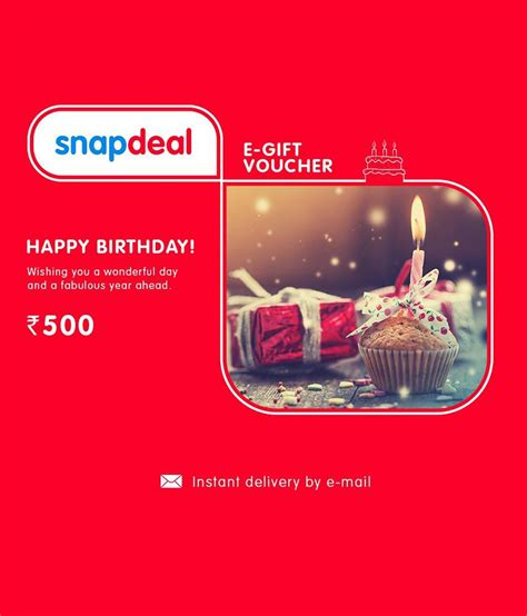 E Gift Cards Online - snapdeal birthday e gift card buy online on snapdeal