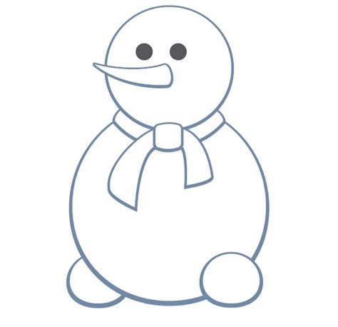 Snowman Outline Simple by Snowman Outline Template New Calendar Template Site