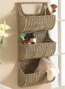 Wall Storage Shelves With Baskets Seagrass 3 Tier Wall Basket Contemporary Display And