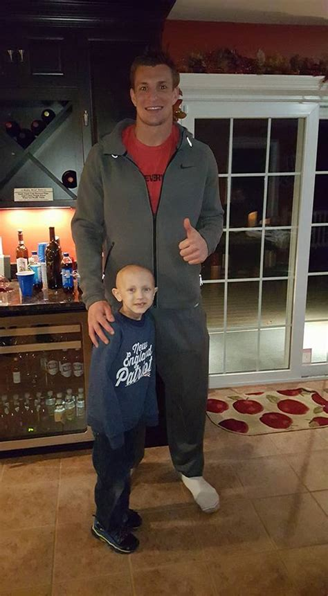 rob gronkowski house gronk rallies behind ri boy with cancer gronk is
