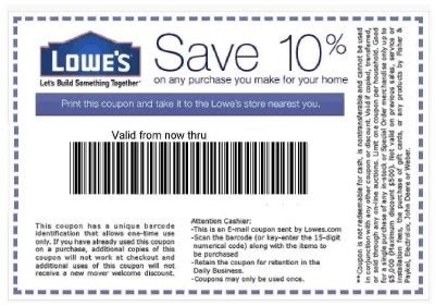 lowe s sale coupons for special days