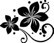 Wholesale Hawaiian Flowers - plumeria flower with swirls and dots sticker car stickers