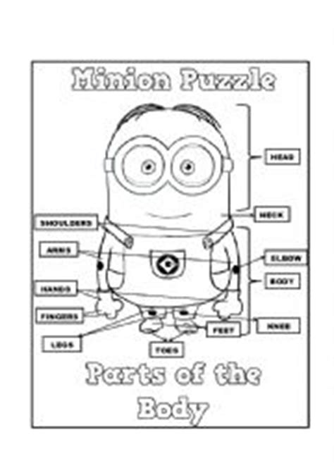 minions printable activity sheets body parts minions worksheets buscar con google