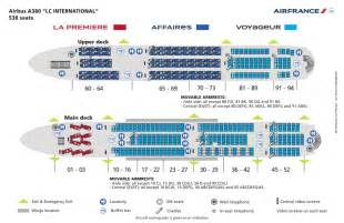 Airbus A380 Floor Plan by Airbus A380 Interior Air France Airbus A380 Seat Map